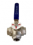 "1/2"" NPTF Stainless Steel 3 Way Ball Valve"