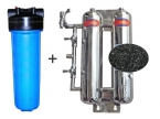 Double Stages Stainless Steel Activated Carbon Back Wash System