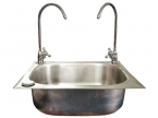 Stainless Steel Sink Double Faucet