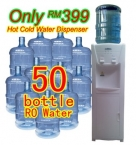 【Plan399】50 Bottles RO Water Plan + 1 Unit Water Dispenser Using